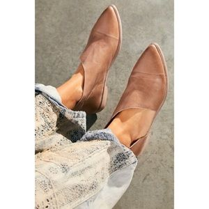 Free People Royale Leather d'Orsay Flats Gray 6